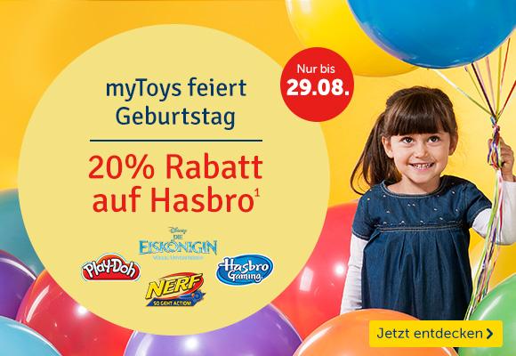 MyToys hat Geburtstag und schenkt 20% auf Hasbro