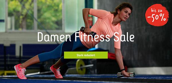 Damen Fitness Sale bis zu -50% reduziert