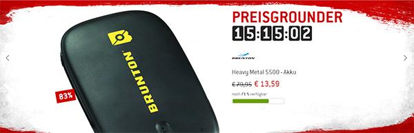Heavy Metal 5500 - Akku von Brunton um 83% reduziert