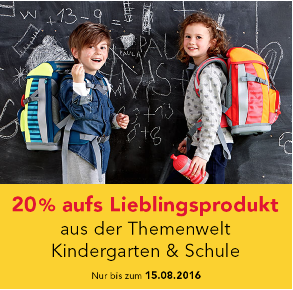 Zum Start von Kindergarten & Schule bei jako-o.de - 20% Rabatt