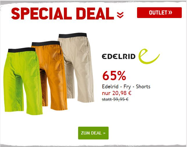 Edelrid - Fry Shorts um 65% reduziert